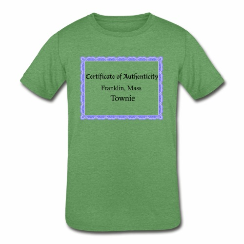 Franklin Mass townie certificate of authenticity - Kids' Tri-Blend T-Shirt