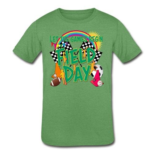 Field Day Games for SCHOOL - Kids' Tri-Blend T-Shirt