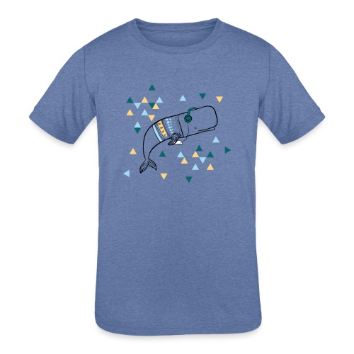 Music Whale - Kids' Tri-Blend T-Shirt