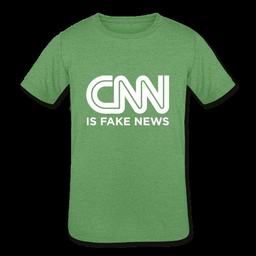 CNN Is Fake News - Kids' Tri-Blend T-Shirt