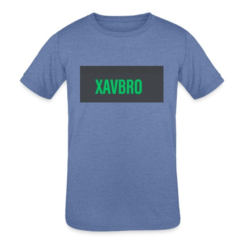 xavbro green logo - Kids' Tri-Blend T-Shirt