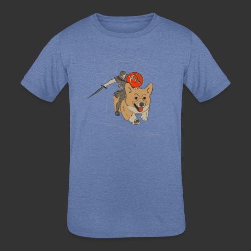 A Corgi Knight charges into battle - Kids' Tri-Blend T-Shirt