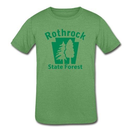 Rothrock State Forest Keystone (w/trees) - Kids' Tri-Blend T-Shirt