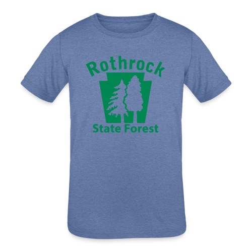 Rothrock State Forest Keystone (w/trees) - Kids' Tri-Blend T-Shirt