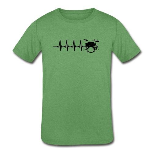 Drums Heartbeat Funny drummer - Kids' Tri-Blend T-Shirt