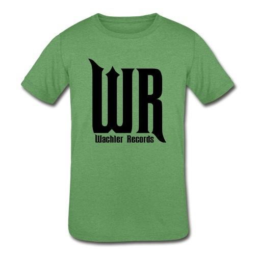 Wachler Records Dark Logo - Kids' Tri-Blend T-Shirt