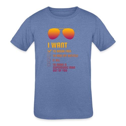 I Want To Break Free retro - Kids' Tri-Blend T-Shirt