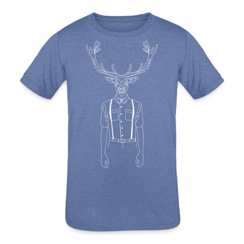 Hipster Stag - Kids' Tri-Blend T-Shirt