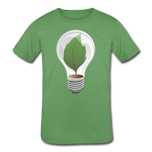 Clean Energy Green Leaf Illustration - Kids' Tri-Blend T-Shirt