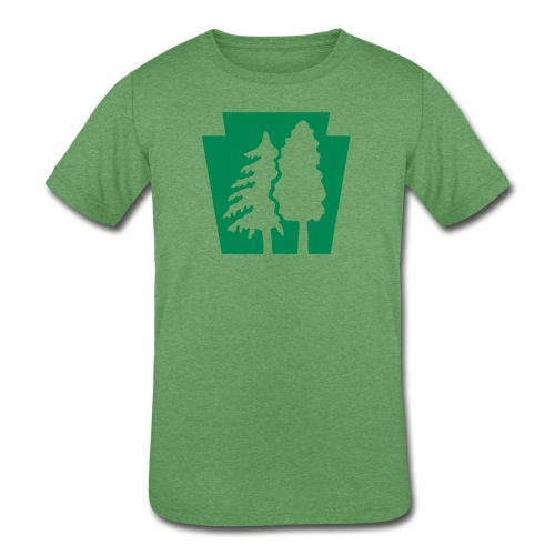 PA Keystone w/trees - Kids' Tri-Blend T-Shirt