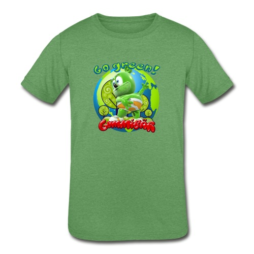Gummibär Go Green Earth Day Earth - Kids' Tri-Blend T-Shirt