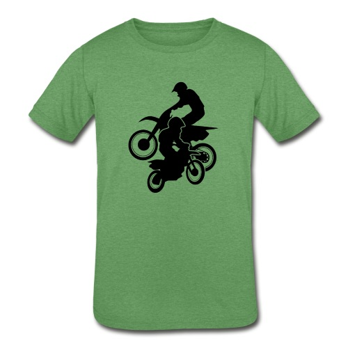 Motocross Dirt Bikes Off-road Motorcycle Racing - Kids' Tri-Blend T-Shirt