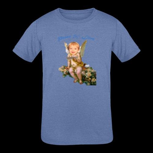 Peace and Love - Kids' Tri-Blend T-Shirt