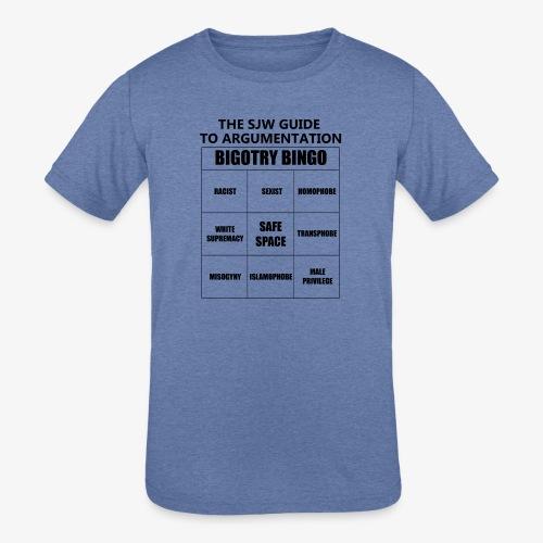 Bingo black - Kids' Tri-Blend T-Shirt