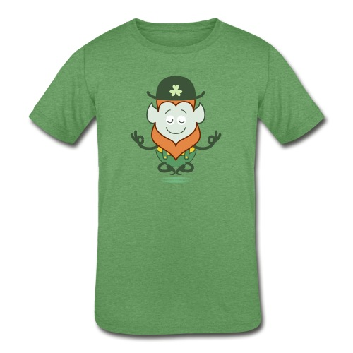 St Patrick's Day Leprechaun meditating - Kids' Tri-Blend T-Shirt