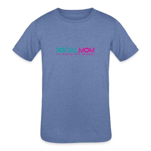 Social.mom logo français - Kids' Tri-Blend T-Shirt