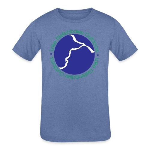 LAKE DIEFENBAKER OUTDOORS - Kids' Tri-Blend T-Shirt
