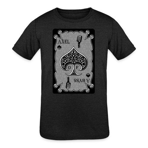 Axelofabyss Spade Card - Kids' Tri-Blend T-Shirt