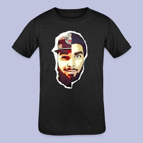 dlb face - Kids' Tri-Blend T-Shirt
