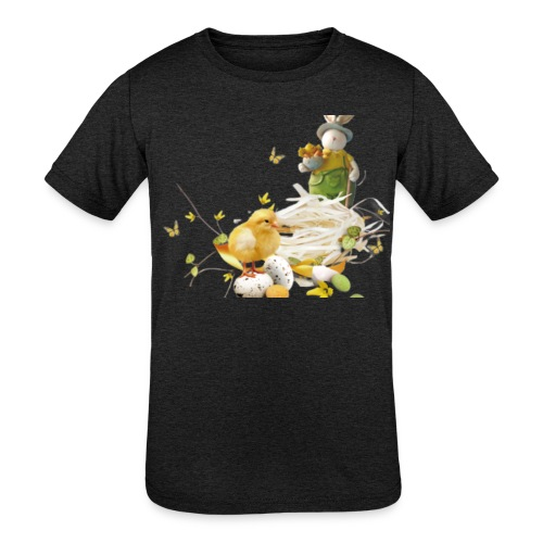 easter bunny easter egg holiday - Kids' Tri-Blend T-Shirt