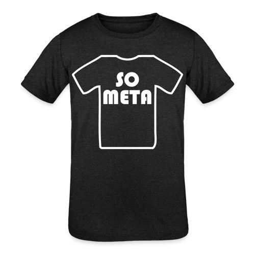 Meta Shirt on a Shirt - Kids' Tri-Blend T-Shirt