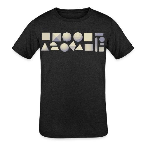 Anyland shapes - Kids' Tri-Blend T-Shirt