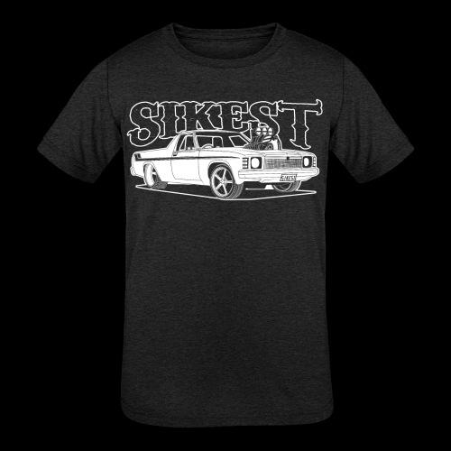 SIKEST - HJ UTE BLOWN BIG BLOCK DESIGN - Kids' Tri-Blend T-Shirt