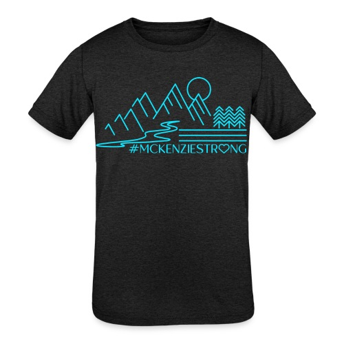 McKenzie Strong TEAL - Kids' Tri-Blend T-Shirt