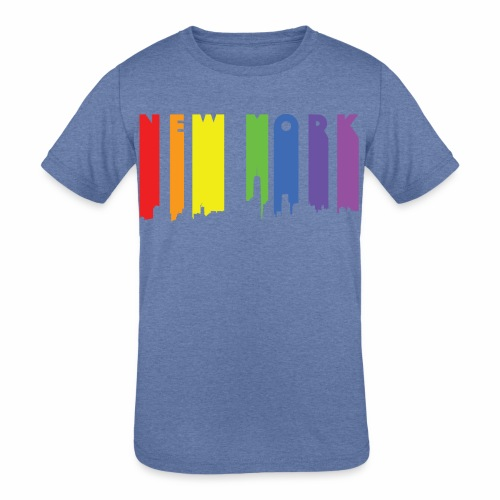 New York design Rainbow - Kids' Tri-Blend T-Shirt