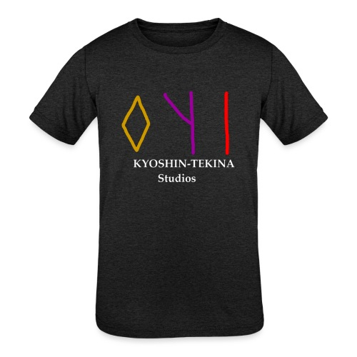 Kyoshin-Tekina Studios logo (white text) - Kids' Tri-Blend T-Shirt