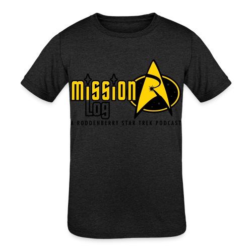 Logo Wide 2 Color Black Text - Kids' Tri-Blend T-Shirt