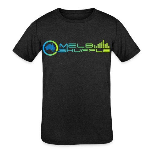 Melbshuffle Gradient Logo - Kids' Tri-Blend T-Shirt