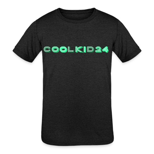 Cool kid 24 design - Kid's Tri-Blend T-Shirt
