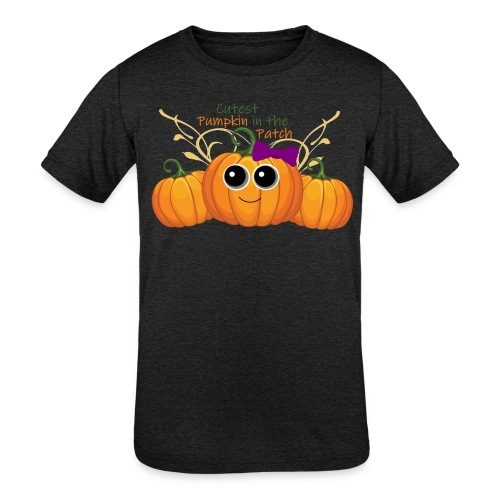 cutest pumpkin - Kids' Tri-Blend T-Shirt