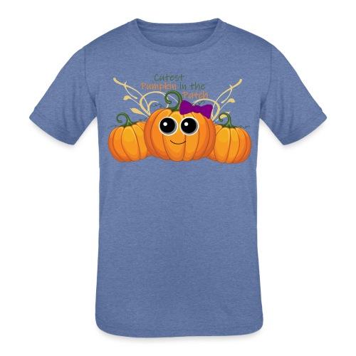 cutest pumpkin - Kids' Tri-Blend T-Shirt