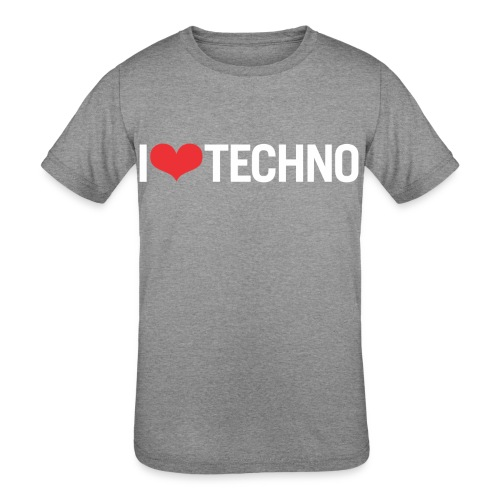 I Love Techno - Kids' Tri-Blend T-Shirt