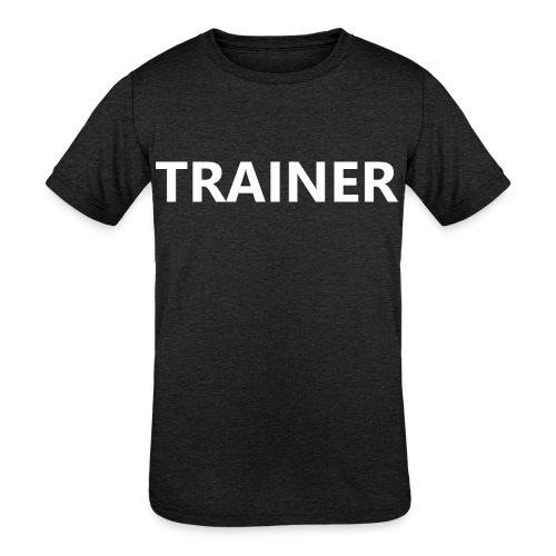 Trainer - Kids' Tri-Blend T-Shirt
