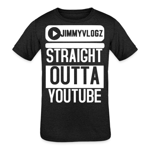 Straight Outta YouTube Merch! - Kids' Tri-Blend T-Shirt