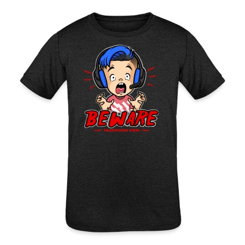 Headphone Users Beware - Kids' Tri-Blend T-Shirt