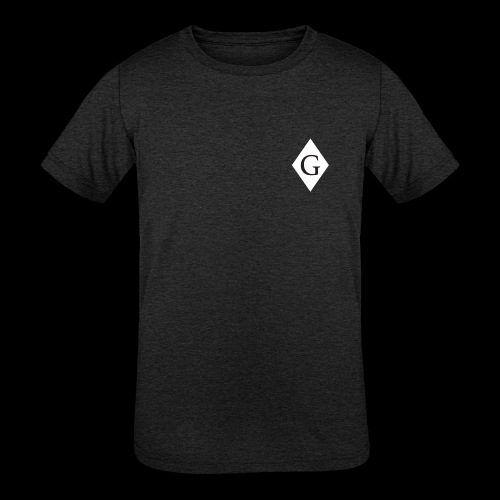 Glenester Black on White Diamond - Kids' Tri-Blend T-Shirt