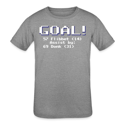 Buzz Flibbet Goal Assisted by Mark Donk - Kids' Tri-Blend T-Shirt