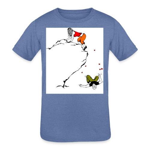 Lady Climber - Kids' Tri-Blend T-Shirt
