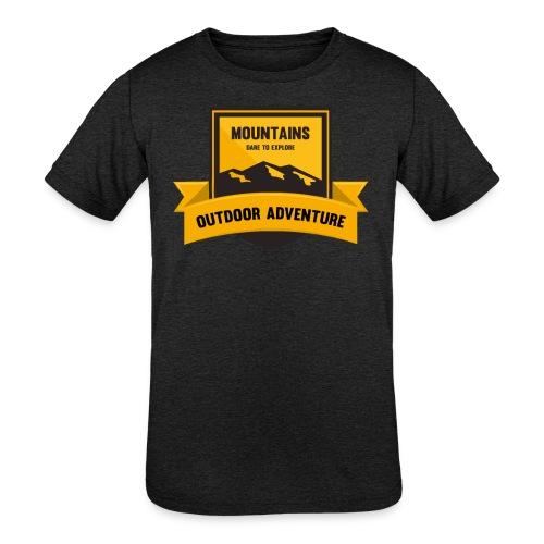 Mountains Dare to explore T-shirt - Kids' Tri-Blend T-Shirt
