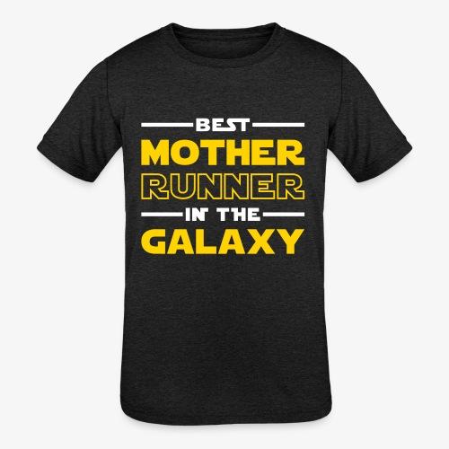 Best Mother Runner In The Galaxy - Kids' Tri-Blend T-Shirt