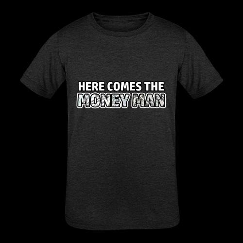 Here Comes The Money Man - Kids' Tri-Blend T-Shirt