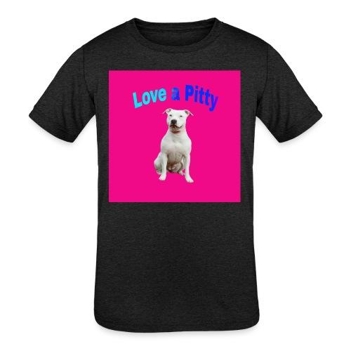 Pink Pit Bull - Kids' Tri-Blend T-Shirt