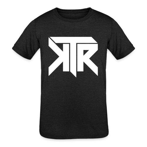 KTR Logo White - Kids' Tri-Blend T-Shirt