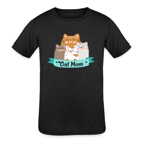 Cat MOM, Cat Mother, Cat Mum, Mother's Day - Kids' Tri-Blend T-Shirt