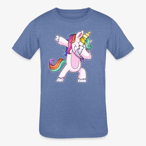 DABBING UNICORN Kid - Kids' Tri-Blend T-Shirt
