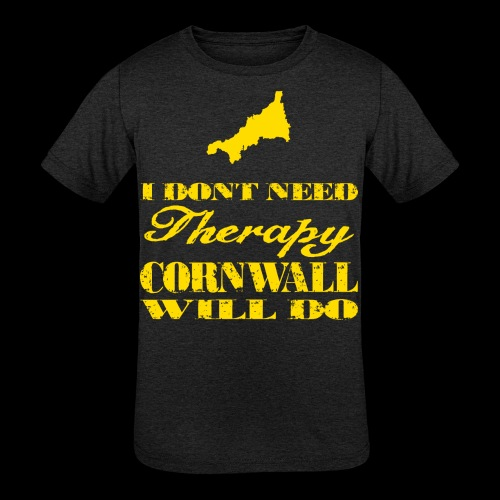 Don't need therapy/Cornwall - Kids' Tri-Blend T-Shirt